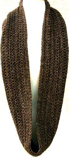 """Let's Do Coffee"" Alpaca infinity scarf. Mmmm, I love the look of simple crochet."