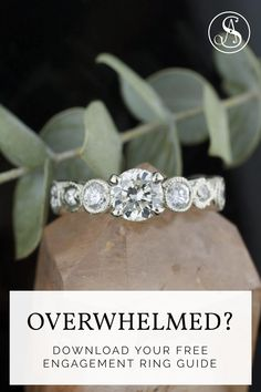 This free guide fills you in on the 7 things you Need to Know Before you go engagement ring shopping. This free guide was created by Abby Sparks Jewelry. Engagement Ring Guide, Perfect Engagement Ring, Designer Engagement Rings, Custom Jewelry, Wedding Rings, Free, Shopping, Personalized Jewelry, Engagement Rings