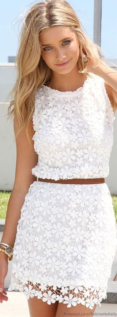 Dani- here is an idea for the dress you just bought. lace shift