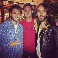 "Jaredleto: ""Me Zedd + Evan. #topsecret #holograms #dangerous #happybirthday"""