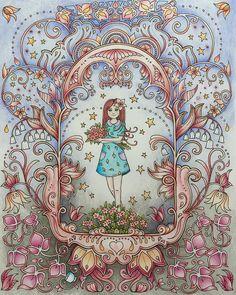 She's my Ivy #wip #ivyandtheinkybutterfly #johannabasford #inkyivy #mycreativeescape