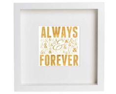 Gold Always & Forever Digital Printable by dreamincolorstudio, $4.00