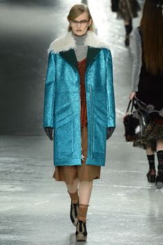 Sparkle coats at Rodarte Fall 2014