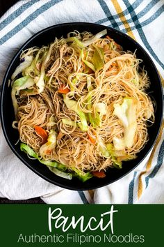Pancit Authentic Filipino Noodles With Chicken – an easy authentic Pinoy recipe! Pancit Authentic Filipino Noodles With Chicken – an easy authentic Pinoy recipe! Filipino Noodles, Air Fryer Recipes, Cooking Recipes, Healthy Recipes, Vegetarian Recipes, Healthy Foods, Real Food Recipes, Pinoy Food, Asian Cooking