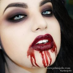 'Sexy Vampire' by Jolani J - only 7 steps to create this dramatic look! #vampire #halloween #smokeyeye