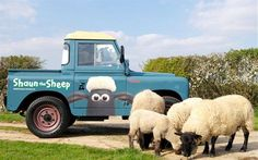 Shaun the Sheep Land Rover. Cute, nuttet, vehicle, transportation, wheels, photo.