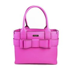 Pre-Owned Kate Spade Hot Pink Leather Quinn Boxy Tote ($160) ❤ liked on Polyvore featuring bags, handbags, tote bags, pink, pink tote bag, pink leather purse, kate spade handbag, handbag tote and leather tote handbags