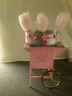 Candy floss wedding - great idea for a business!
