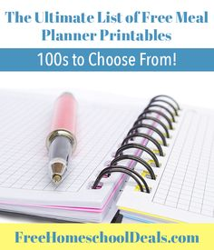 We all love a good free meal planner, right?  How about a huge list full of free meal planner printables and forms?