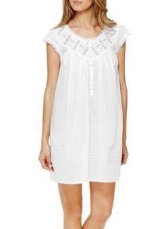 7926b42484 Eileen West Water White Short Nightgown White Shorts