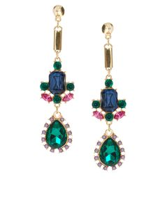 Spike Gem Drop Earrings