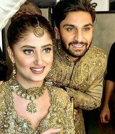 Korean Actresses, Actors & Actresses, Pakistan Movie, Sajal Ali Wedding, Sajjal Ali, Pakistan Bridal, Pakistani Bridal Makeup, Pakistani Actress, Best Couple