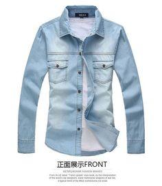 New Style men's Denim shirts men's fashion short sleeve slim fit cotton Denim shirts