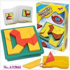 New Creative IQ Tangram Puzzle Brain Teaser Kids Educational Game Toys for Children