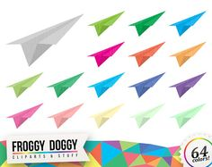 Paper Airplane Clipart, Office Clipart, Telegram Clipart, Message Clipart, Toys Clipart, Planner Clipart, Scrapbooking Cliparts