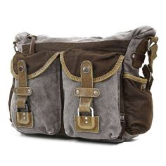 Tapa Two-Tone Leather Mail Bag