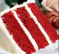 Red Velvet cake with cheesecake filling. Yummy! ( and pretty!)