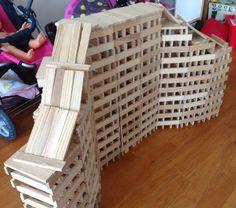 Kapla Block Play, Plank, Home Art, Wooden Toys, Homeschooling, Sculptures, Construction, Kids, Inspiration