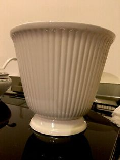 Wedgwood Etruria & Barlaston White Ribbed Large Planter Vintage Plant Pot | eBay