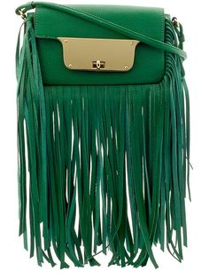 Milly Isabella Fringe Crossbody - Emerald by: Milly @Piperlime