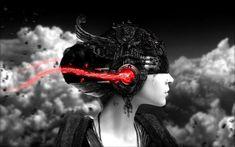 Diseño de Arte en los auriculares y el llanto de música - Free Image Download - Alta Resolución Wallpaper