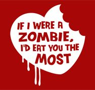 Zombies & Valentines always go together!