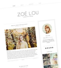 Modern Blogger Template - Responsive Blogger Template - Clean Blog Design - Minimal Theme - Simple Blog Template - White and Grey - Zoe Lou