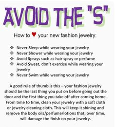 Just a little friendly reminder for ALL jewellery. 💎
