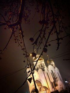 Night... Temple... Krasnoyarsk... Siberia... Russia
