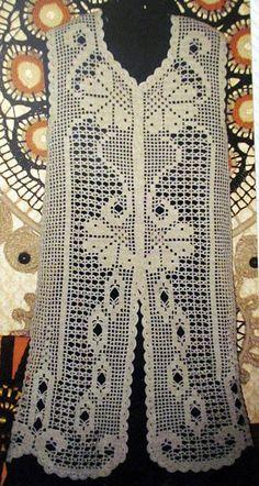Freeform Crochet, Crochet Granny, Crochet Motif, Crochet Shawl, Crochet Patterns, Crochet Coat, Crochet Jacket, Crochet Clothes, Vintage Crochet Dresses