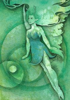 The Green Faerie by Lamorien.deviantart.com on @DeviantArt