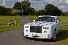 Why not book the White Rolls Royce Phantom for your very special day