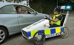 Imagine getting stopped by one of these Weird Police Vehicles.. eek! Must be hard for the policemen to be taken seriously.