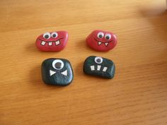 Painted monster pebbles