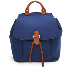 Women's Epic Chic Faux-Suede Flap BackpackNavy/Casey (1.440 RUB) ❤ liked on Polyvore featuring bags, handbags, shoulder bags, blue, blue shoulder bag, flap shoulder bag, drawstring purse, blue purse and flap handbags