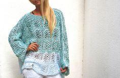 Oversized Minty Sweater