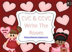 CVC & CCVC Write the room freebie!