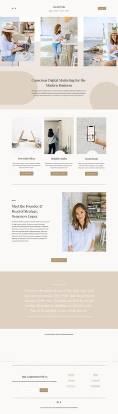 The Willow Template is a modern, organic, and Photography forward Squarespace 7.1 Template design crafted specifically for service-based businesses that want to show off visual galleries and services.