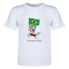 Brazil 2018 FIFA World Cup Russia™ Zabivaka Toddler T-Shirt (White)