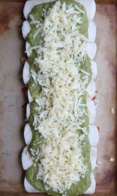Enchiladas with Roasted Poblano and Tomatillo Sauce