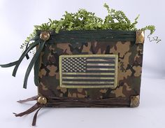 Camo Basket Boxes from Nashville Wraps - design by Gina Tepper at GiftDecorating.com