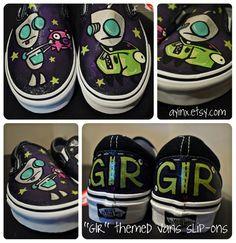 """""""Gir"""" themed Vans slip-ons"""