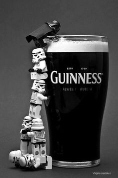Sure, Guinness is a mass-produced suds, but somebody got very crafty for this photo.