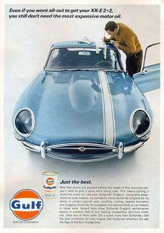 vintage ad -gulf & jaguar-