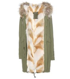 mytheresa.com - Fur-lined cotton parka - Luxury Fashion for Women / Designer clothing, shoes, bags
