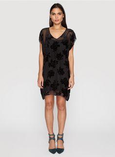 Wilma Burnout Dress Black