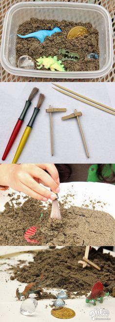 It's treasure digging time! An Original #kids #craft by www.piikeastreet.com #piikeastreet
