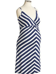 Striped Maternity Dress | $25