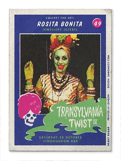 Transylvania Twist Monster Cards 2017