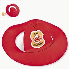 E que tal fazer um chapéu de bombeiro para a criançada? Ainda tem o emblema para imprimir, pintar e colar na frente, uma graça! Uma ótima ...
